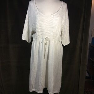 Elle white knit dress